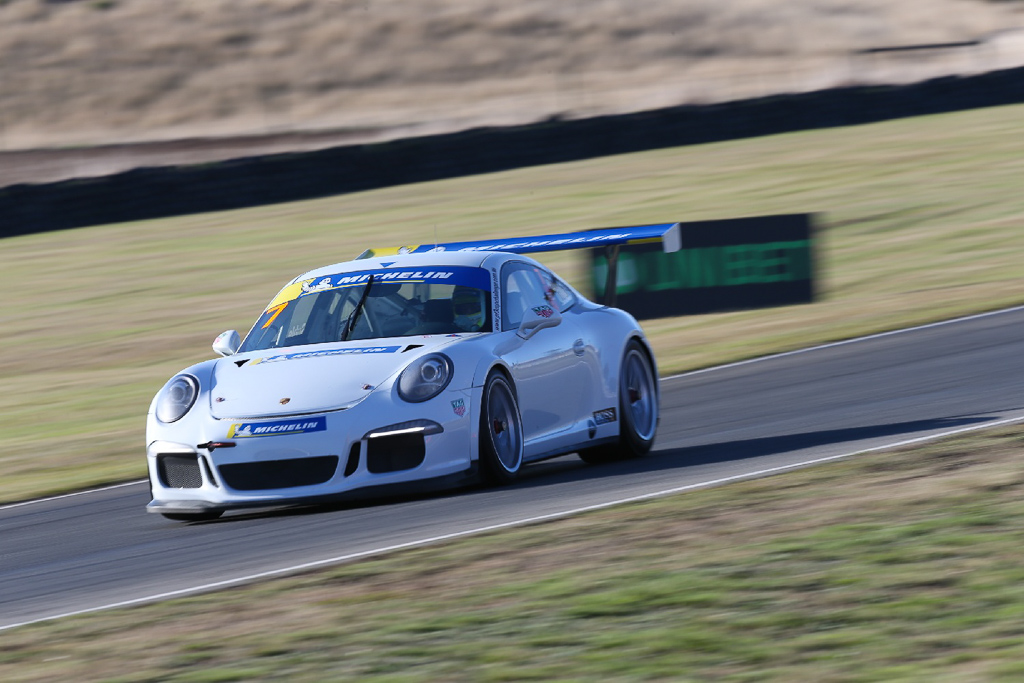 Ryan Suhle with McElrea Racing in the Porsche GT3 Cup Challenge at Symmons Plains in Tasmania
