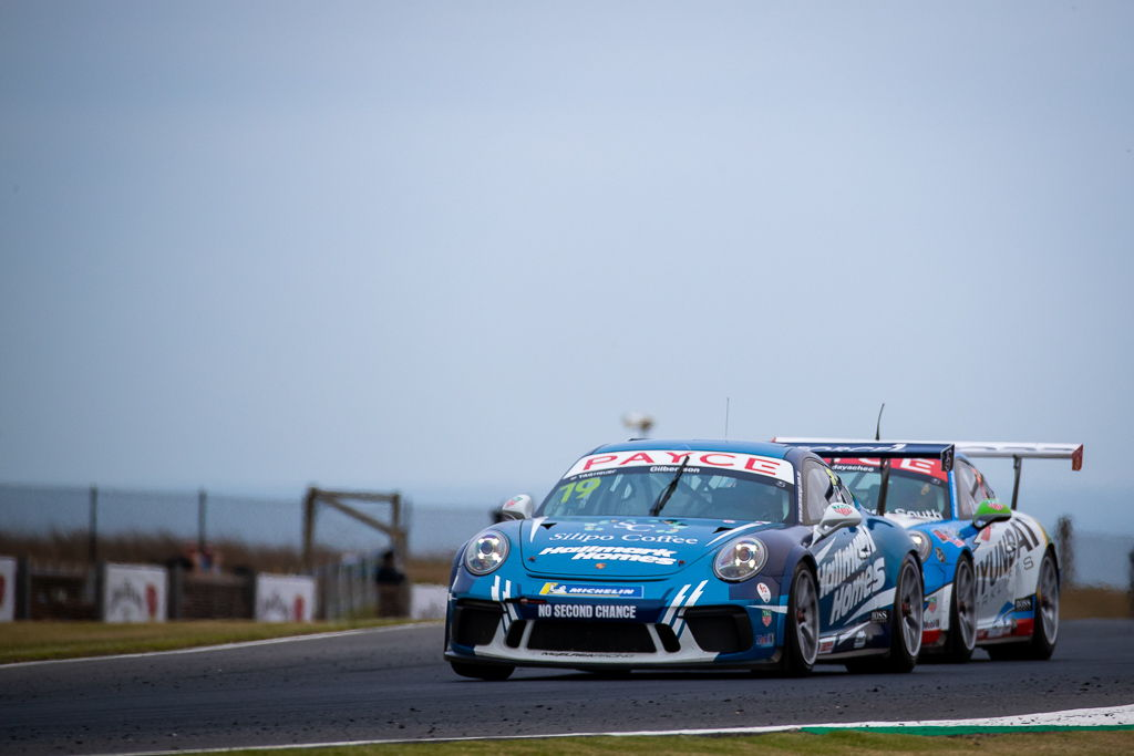 Anthony Gilbertson with McElrea Racing in the Porsche Carrera Cup at Phillip Island