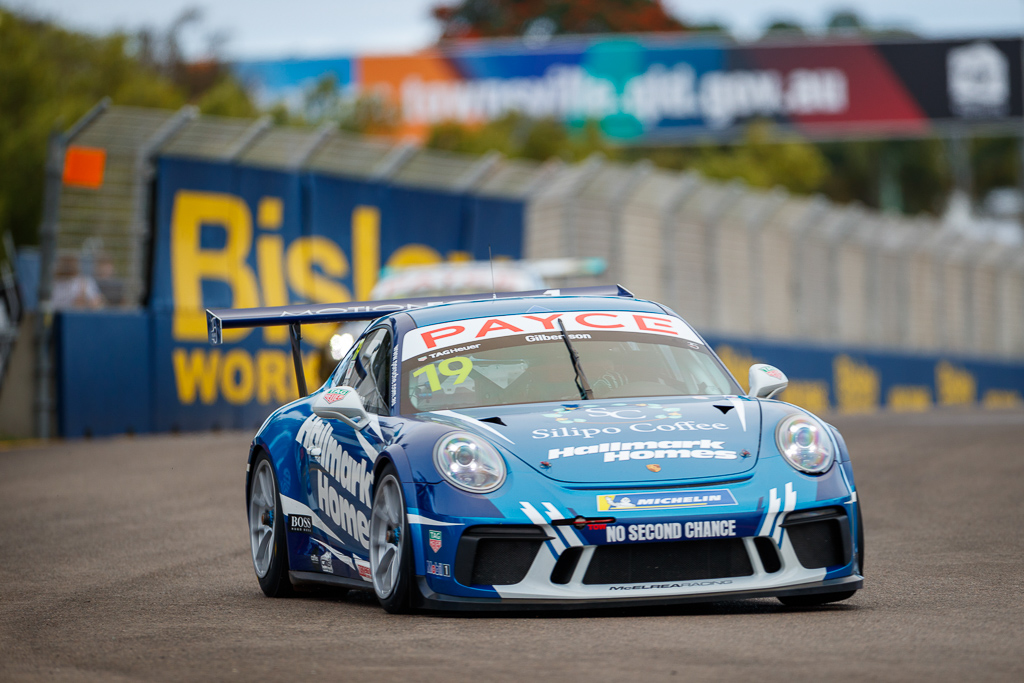 Anthony Gilbertson with McElrea Racing in the Porsche Carrera Cup at Townsville
