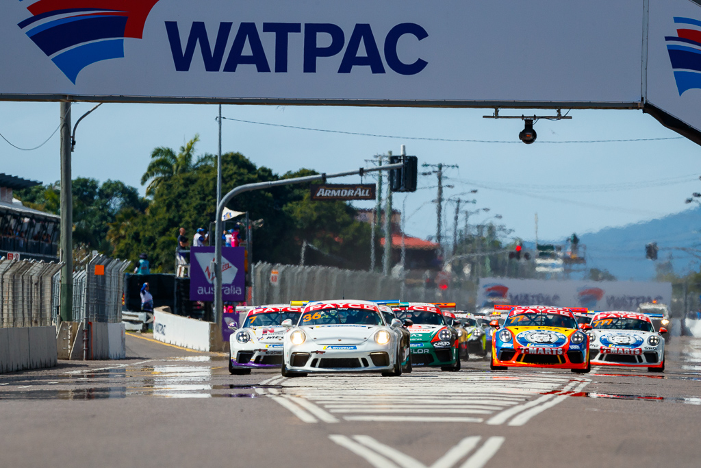 Cooper Murray with McElrea Racing in the Porsche Carrera Cup at Townsville