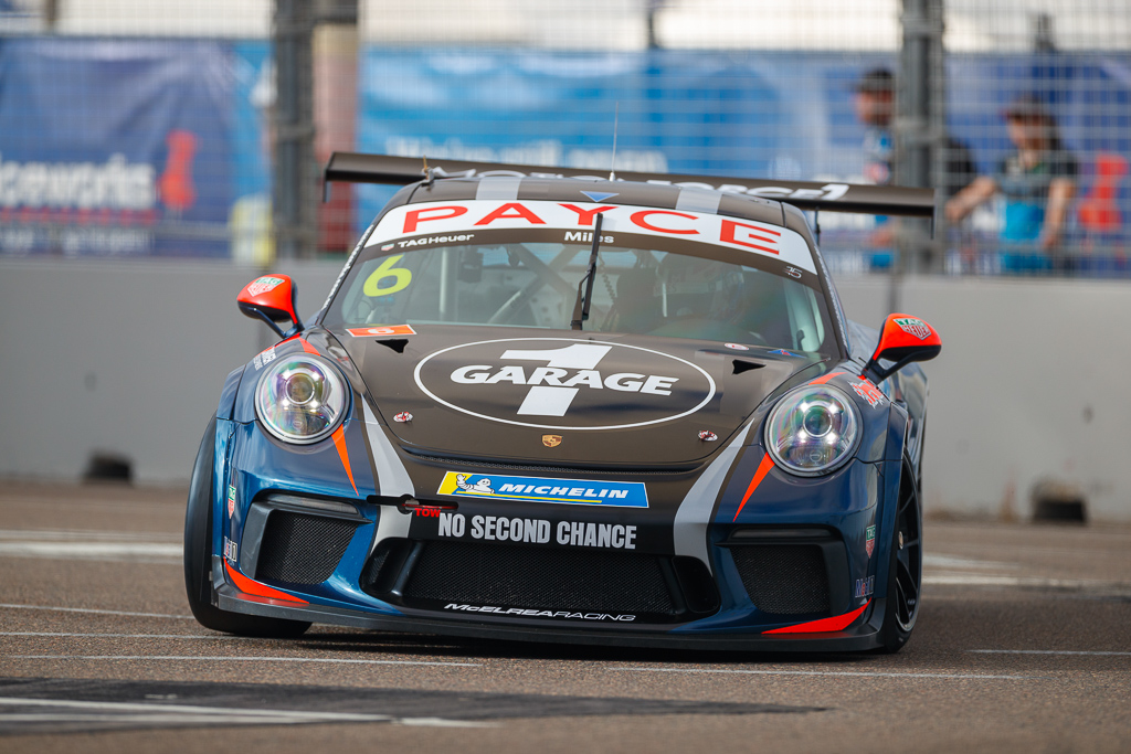 Tim Miles with McElrea Racing in the Porsche Carrera Cup at Townsville