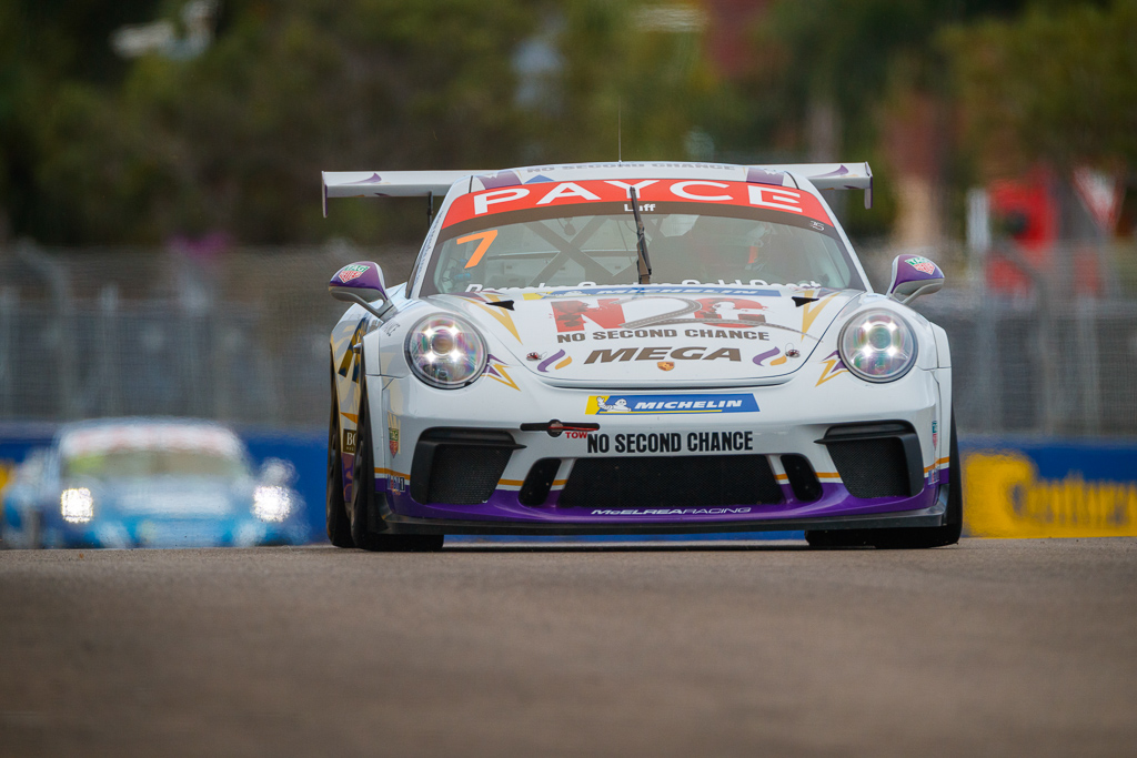 Warren Luff with McElrea Racing in the Porsche Carrera Cup at Townsville