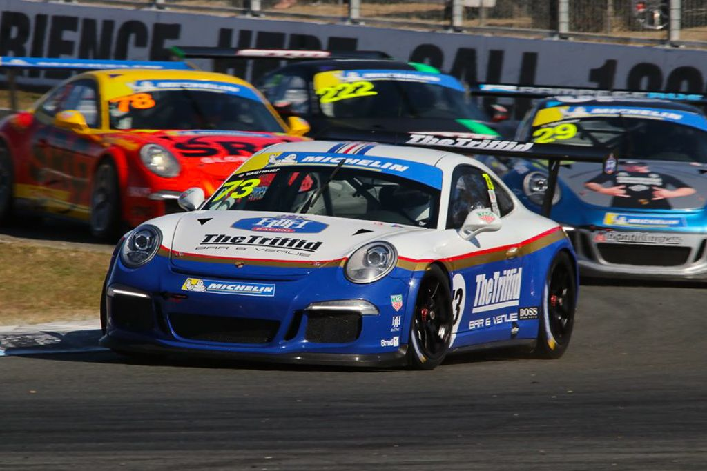 Michael Hovey with McElrea Racing at Queensland Raceway for round 4 of the Porsche GT3 Cup Challenge 2019