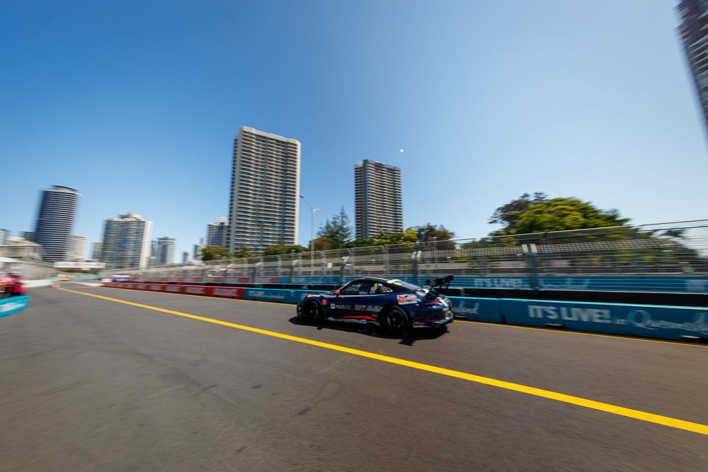 Tim Miles with McElrea Racing in the Porsche Carrera Cup at Surfers Paradise