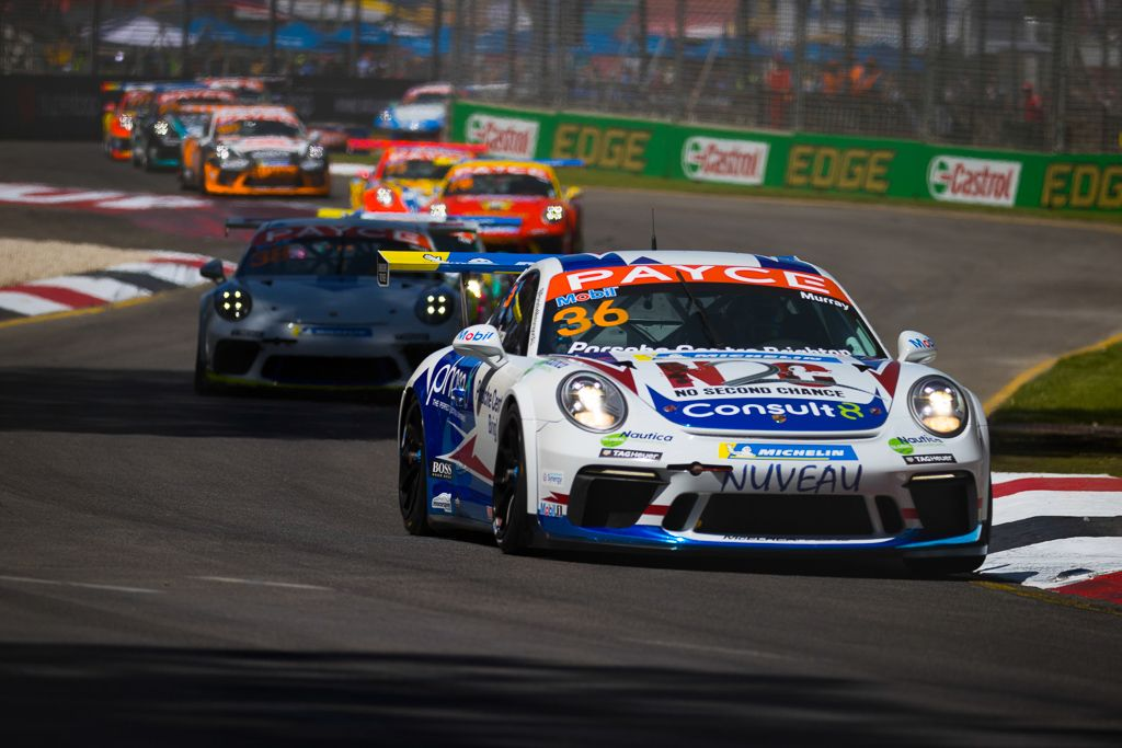 Cooper Murray with McElrea Racing in the Porsche Carrera Cup at the Adelaide 500