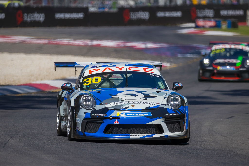 David Ryan with McElrea Racing in the Porsche Carrera Cup at the Adelaide 500