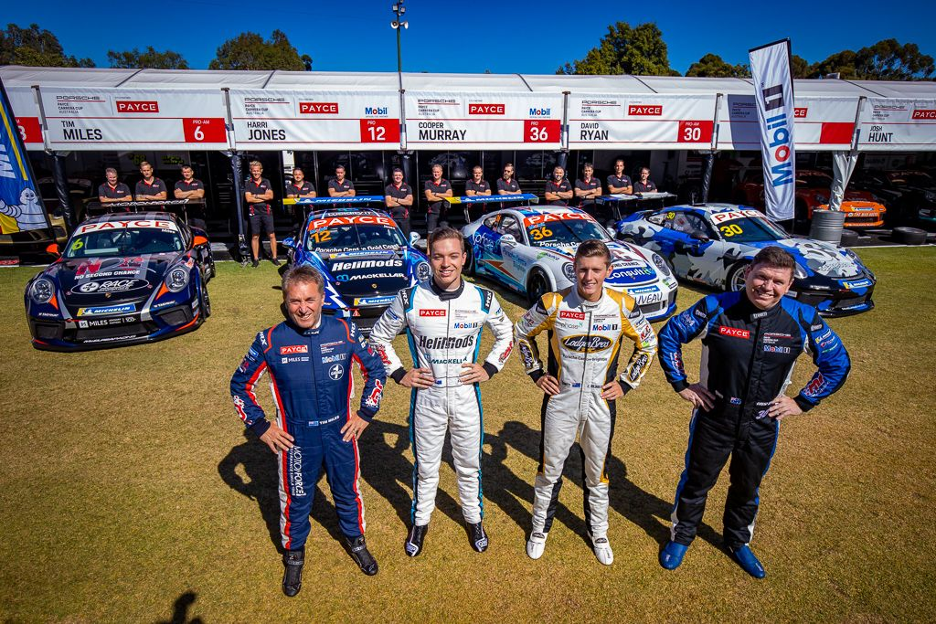 The McElrea Racing Team in the Porsche Carrera Cup at the Adelaide 500