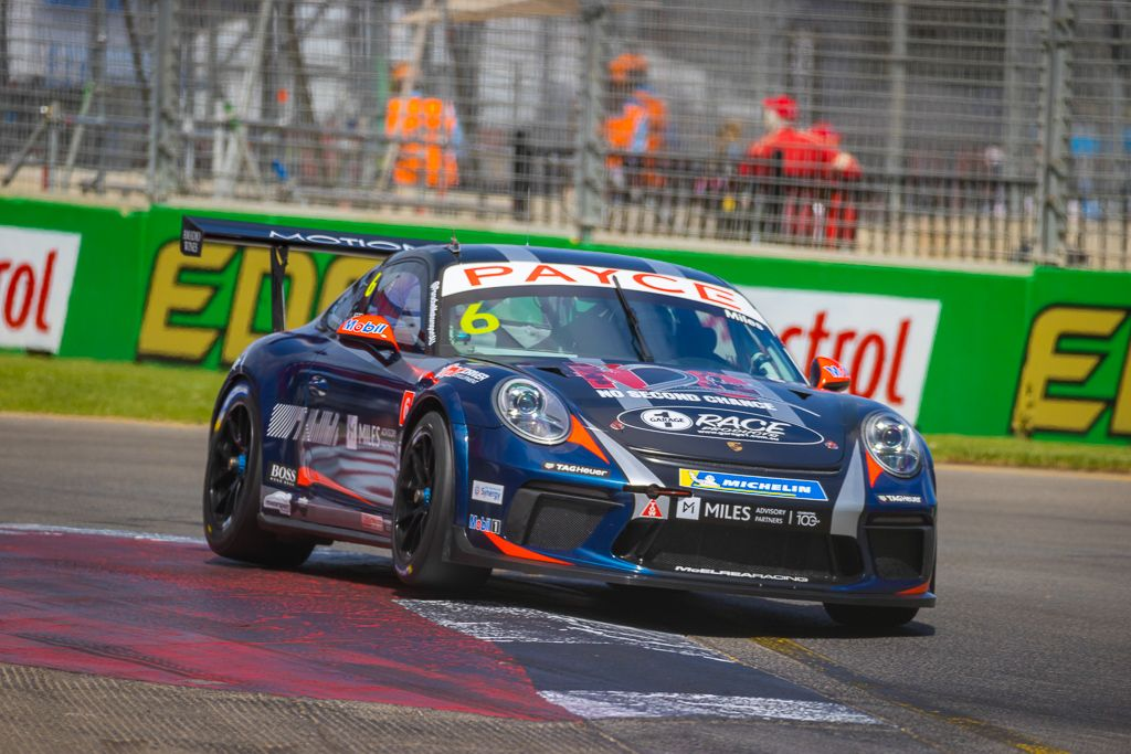 Tim Miles with McElrea Racing in the Porsche Carrera Cup at the Adelaide 500