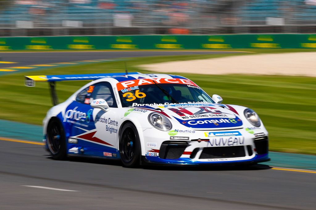 Cooper Murray with McElrea Racing in the Porsche Carrera Cup at the Australian Grand Prix
