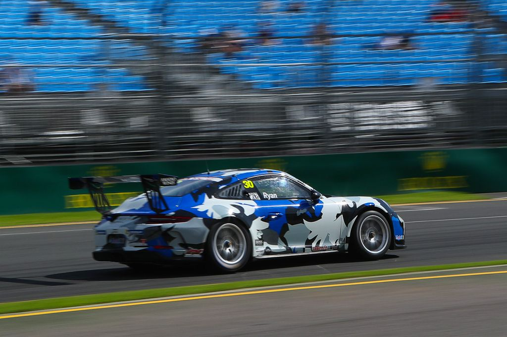 David Ryan with McElrea Racing in the Porsche Carrera Cup at the Australian Grand Prix