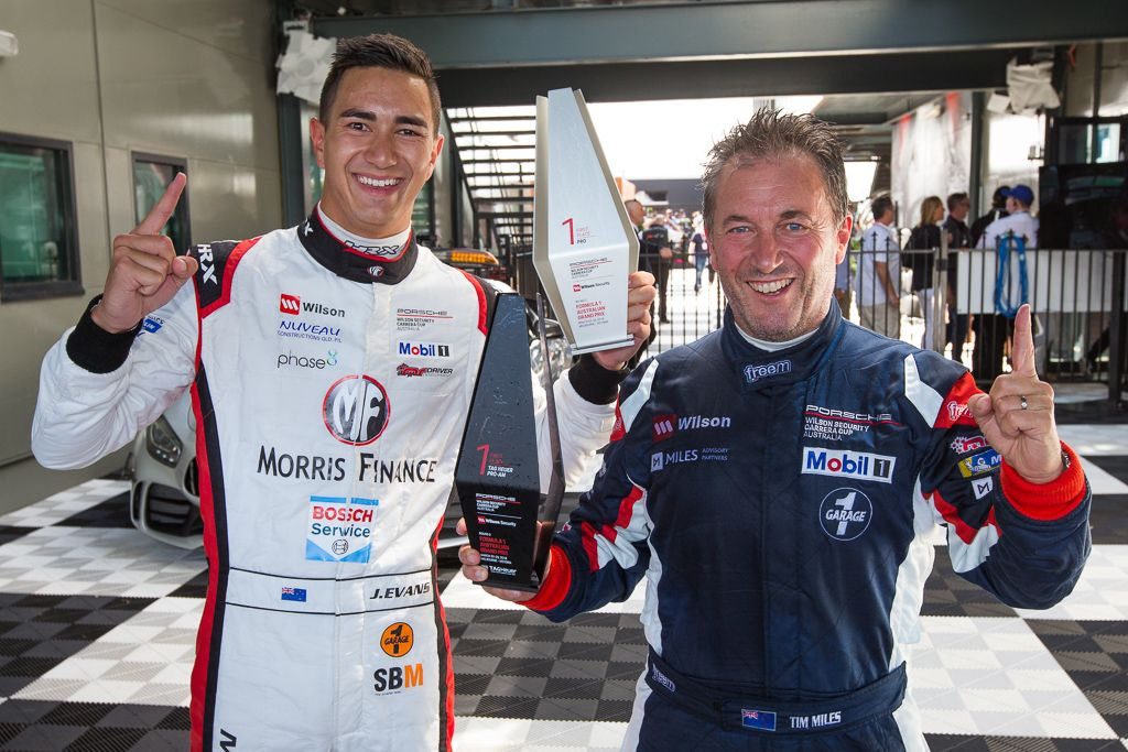 Tim Miles and Jaxon Evans with McElrea Racing in the Porsche Carrera Cup at the Australian Grand Prix