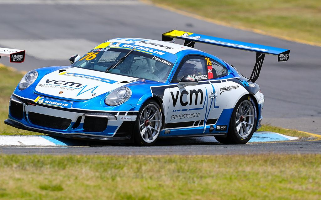 Christian Pancione with McElrea Racing at the Porsche Festival Sandown 2020