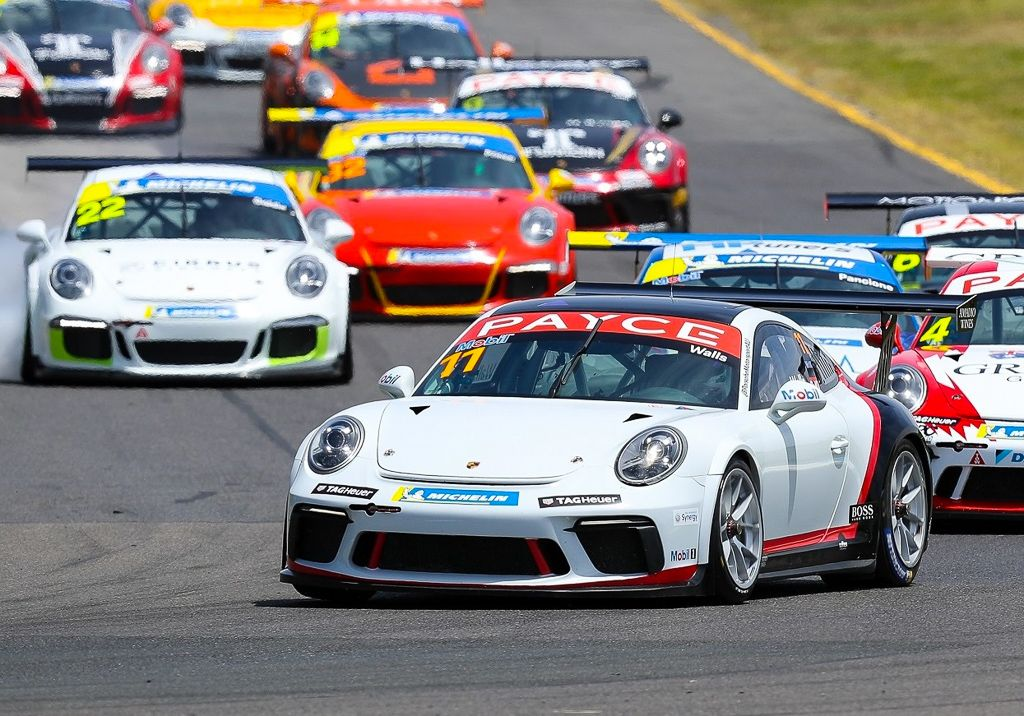 Jackson Walls with McElrea Racing at the Porsche Festival Sandown 2020