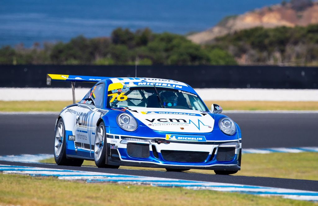 Christian Pancione with McElrea Racing in the Michelin Sprint Challenge Round 1 at Phillip Island 2021