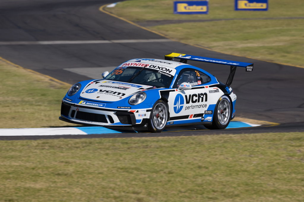Christian Pancione with McElrea Racing in the Porsche Carrera Cup at Sandown 2021