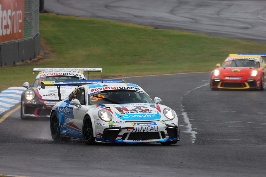 Cooper Murray with McElrea Racing in the Porsche Carrera Cup at Sandown 2021