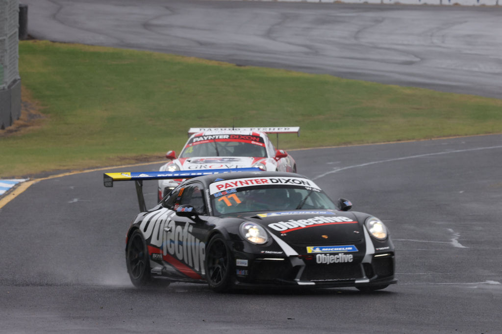 Jackson Walls with McElrea Racing in the Porsche Carrera Cup at Sandown 2021