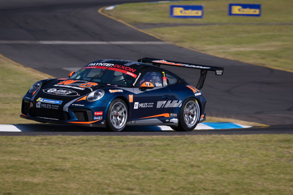 Tim Miles with McElrea Racing in the Porsche Carrera Cup at Sandown 2021