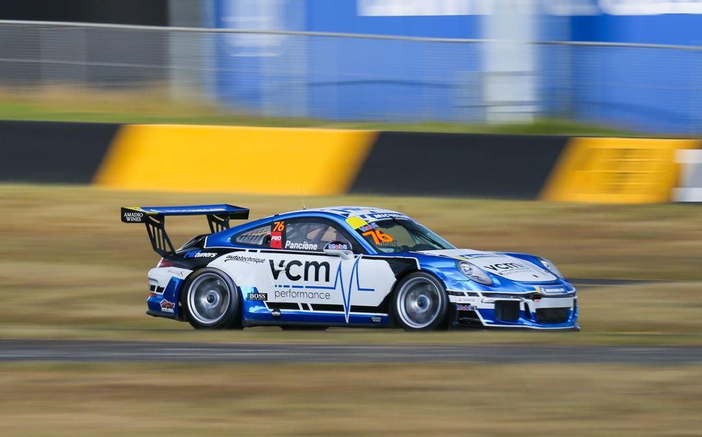 Christian Pancione with McElrea Racing at the Michelin Sprint Challenge Round 2 at Sydney Motorsport Park 2021