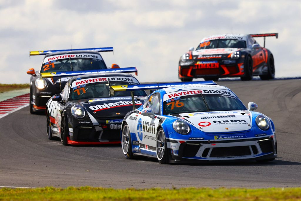 Christian Pancione with McElrea Racing in the Porsche Carrera Cup at The Bend 2021