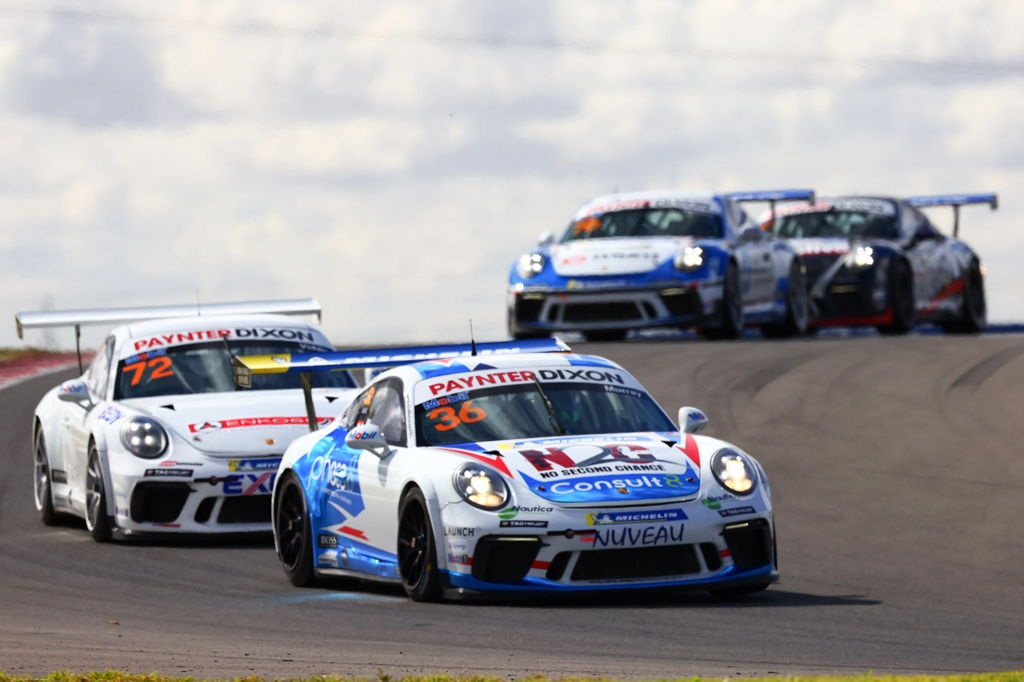 Cooper Murray with McElrea Racing in the Porsche Carrera Cup at The Bend 2021
