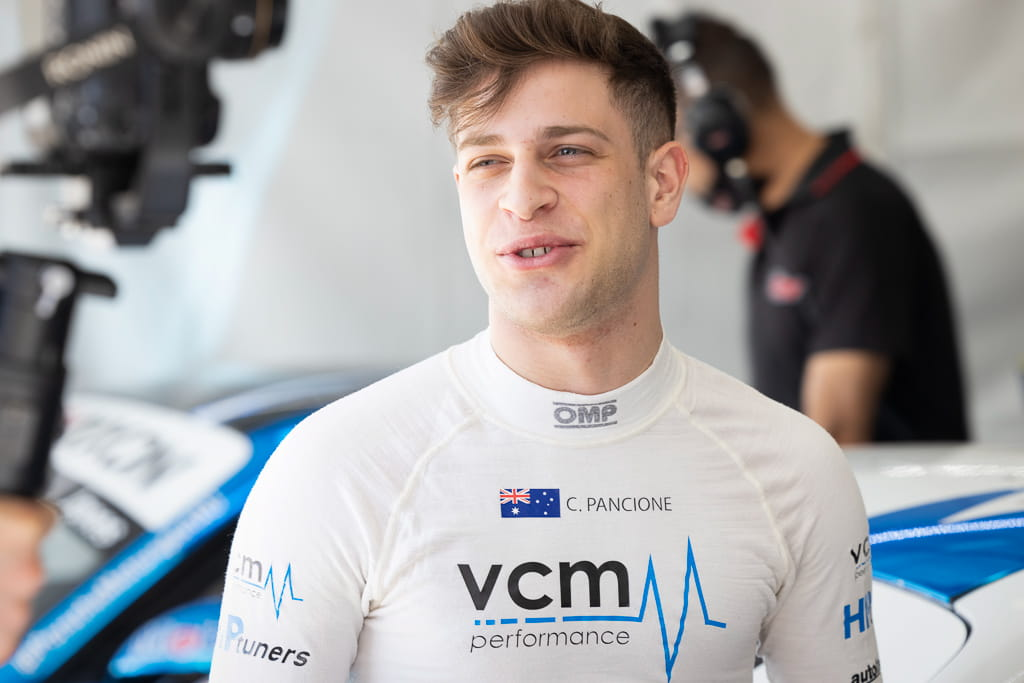 Christian Pancione in the Porsche Carrera Cup at Townsville 2021