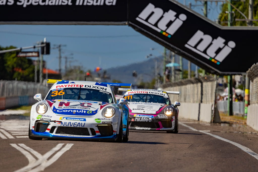 Cooper Murray in the Porsche Carrera Cup at Townsville 2021